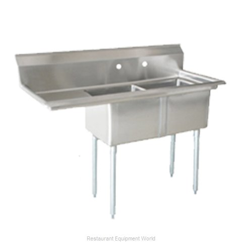 Food Machinery of America 25256 Sink 2 Two Compartment