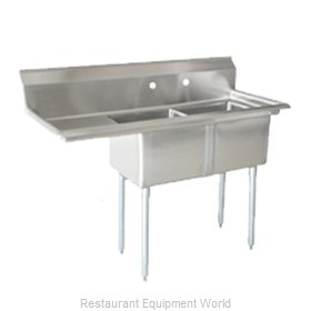 Food Machinery of America 25256 Sink, (2) Two Compartment