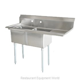 Food Machinery of America 25257 Sink, (2) Two Compartment