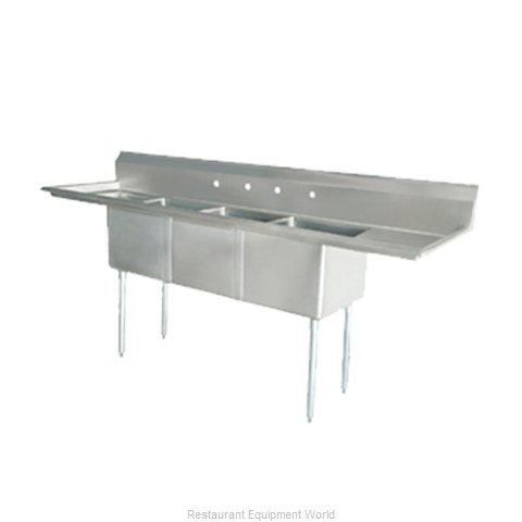 Food Machinery of America 25273 Sink, (3) Three Compartment