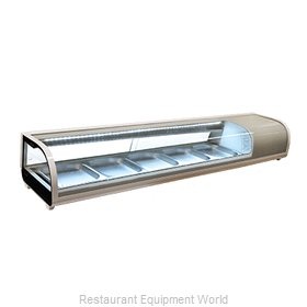 Food Machinery of America 25828 Display Case, Refrigerated Sushi