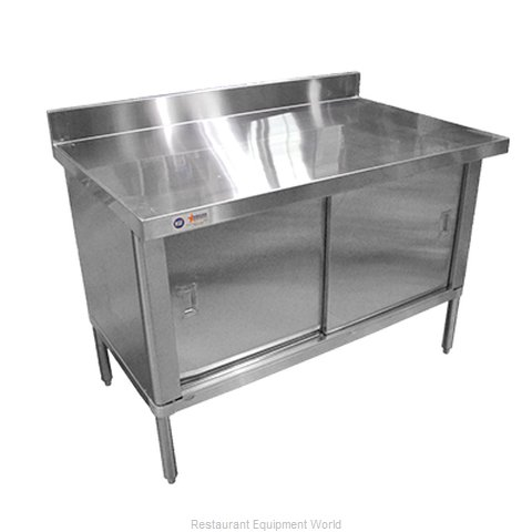 Food Machinery of America 28642 Work Table, Cabinet Base Sliding Doors