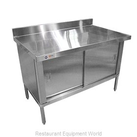 Food Machinery of America 28643 Work Table, Cabinet Base Sliding Doors