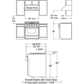 Food Machinery of America 28645 Range, Residential Domestic