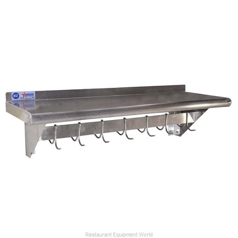 Food Machinery of America 31852 Overshelf Wall-Mounted With Pot Rack