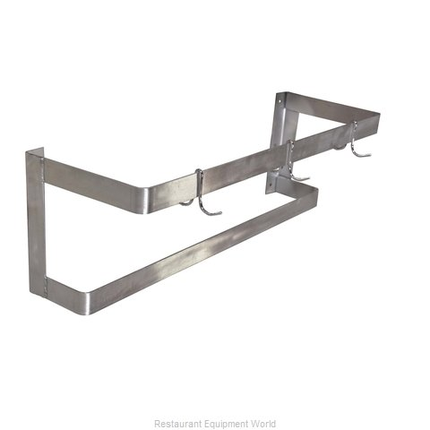 Food Machinery of America 31854 Pot Rack, Wall-Mounted (Magnified)