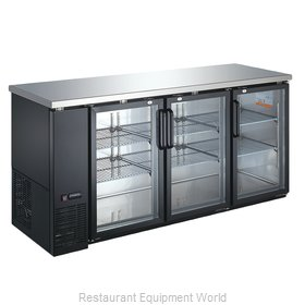 Food Machinery of America 31863 Back Bar Cabinet, Refrigerated