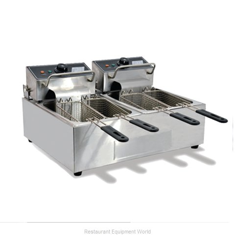 Food Machinery of America 34868 Fryer, Electric, Countertop, Split Pot