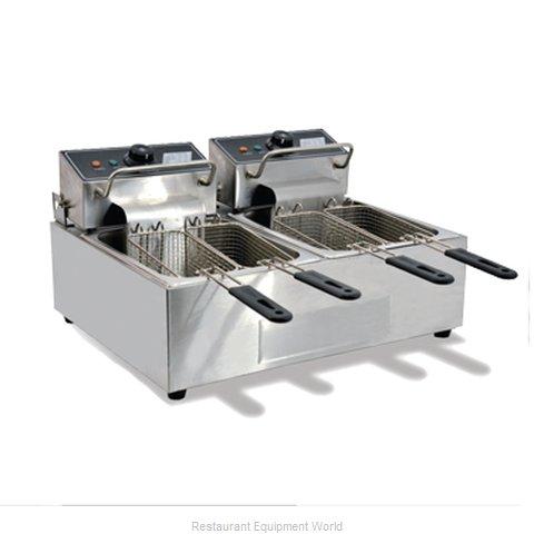 Food Machinery of America 39372 Fryer, Electric, Countertop, Split Pot