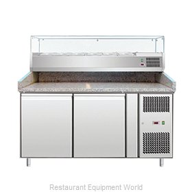 Food Machinery of America 39592 Pizza Prep Table Refrigerated