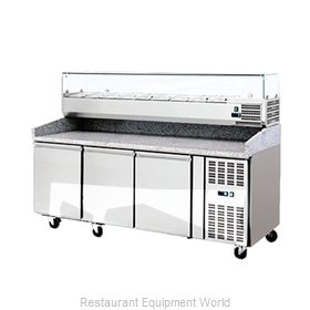 Food Machinery of America 41145 Pizza Prep Table Refrigerated