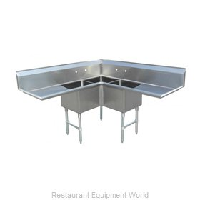 Food Machinery of America 43073 Sink, (3) Three Compartment