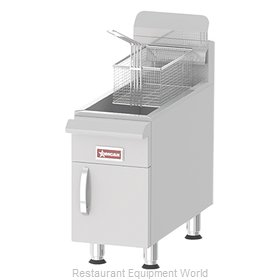 Food Machinery of America 43087 Fryer, Gas, Countertop Full Pot