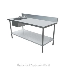 Food Machinery of America 43243 Work Table, with Prep Sink(s)