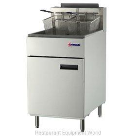 Food Machinery of America 43298 Fryer, Gas, Floor Model, Full Pot