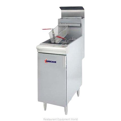 Food Machinery of America 43422 Fryer, Gas, Floor Model, Full Pot