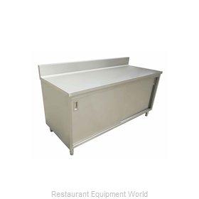 Food Machinery of America 43481 Work Table, Cabinet Base Sliding Doors