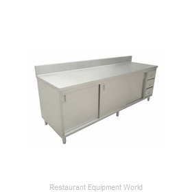 Food Machinery of America 43484 Work Table, Cabinet Base Sliding Doors