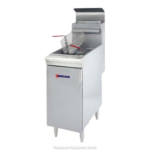 Food Machinery of America 43545 Fryer, Gas, Floor Model, Full Pot