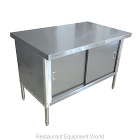 Food Machinery of America 43721 Work Table, Cabinet Base Sliding Doors