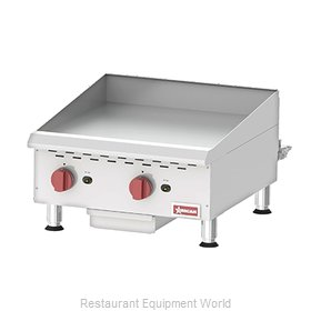 Food Machinery of America 43730 Griddle, Gas, Countertop