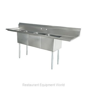 Food Machinery of America 43763 Sink, (3) Three Compartment