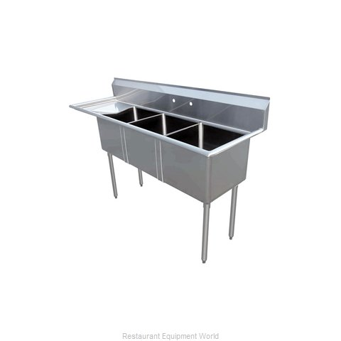 Food Machinery of America 43764 Sink, (3) Three Compartment