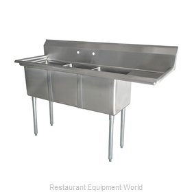 Food Machinery of America 43766 Sink, (3) Three Compartment