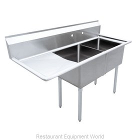 Food Machinery of America 43768 Sink, (2) Two Compartment