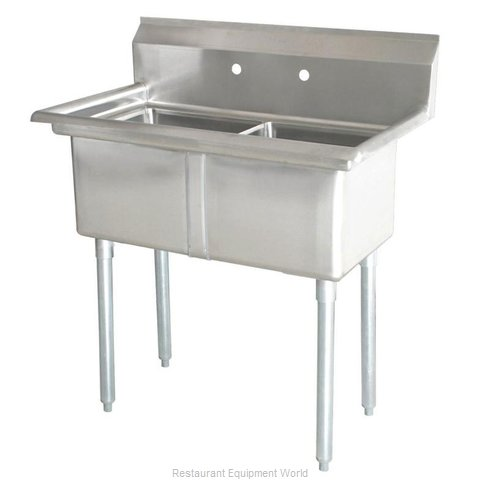 Food Machinery of America 43769 Sink, (2) Two Compartment