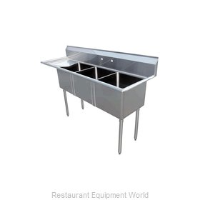 Food Machinery of America 43775 Sink, (3) Three Compartment