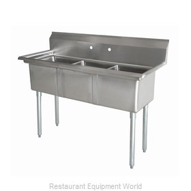 Food Machinery of America 43776 Sink, (3) Three Compartment