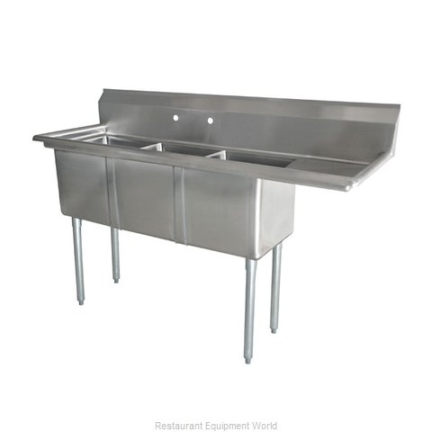 Food Machinery of America 43777 Sink, (3) Three Compartment