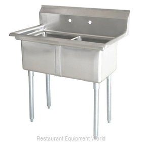 Food Machinery of America 43780 Sink, (2) Two Compartment