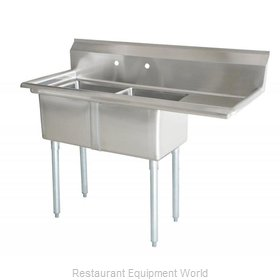 Food Machinery of America 43781 Sink, (2) Two Compartment