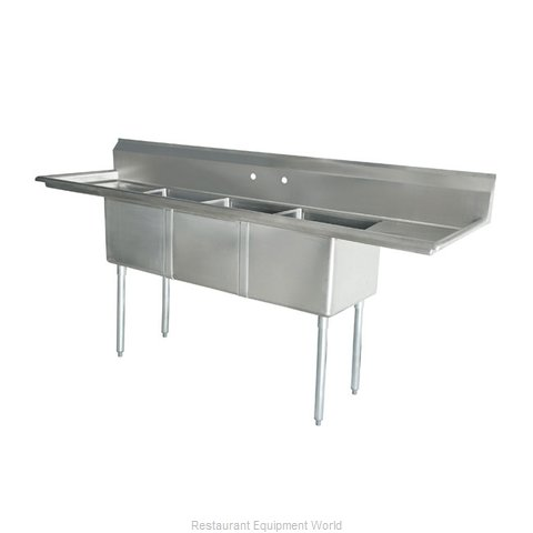 Food Machinery of America 43789 Sink, (3) Three Compartment