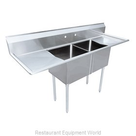 Food Machinery of America 43793 Sink, (2) Two Compartment