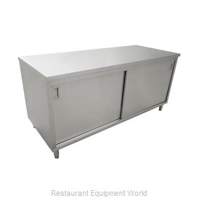 Food Machinery of America 44187 Work Table, Cabinet Base Sliding Doors