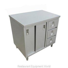 Food Machinery of America 44197 Work Table, Cabinet Base Sliding Doors