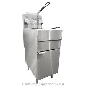 Food Machinery of America 44225 Fryer, Gas, Floor Model, Full Pot