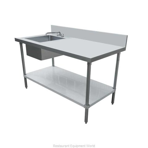 Food Machinery of America 44259 Work Table, with Prep Sink(s)