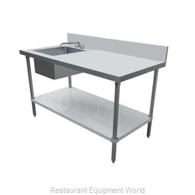 Food Machinery of America 44301 Work Table, with Prep Sink(s)