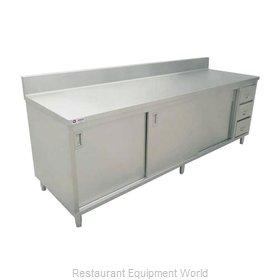 Food Machinery of America 45286 Work Table, Cabinet Base Sliding Doors