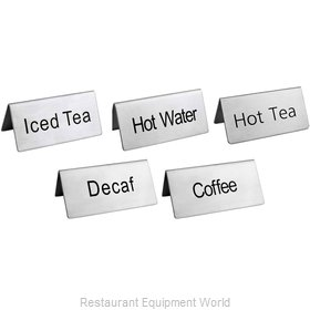 Food Machinery of America 80137 Beverage Sign