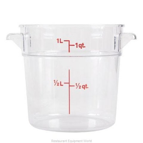 Food Machinery of America 80208 Food Storage Container, Round