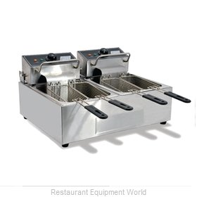 Food Machinery of America CE-CN-0012 Fryer, Electric, Countertop, Split Pot
