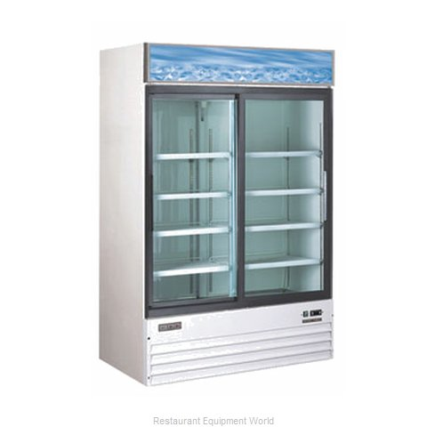 Food Machinery of America G1.2YBM2F Reach-in Display Refrigerator 2 sections