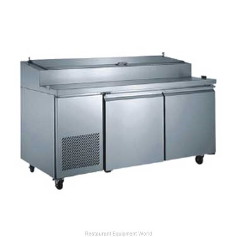 Food Machinery of America PICL-2 Pizza Prep Table Refrigerated