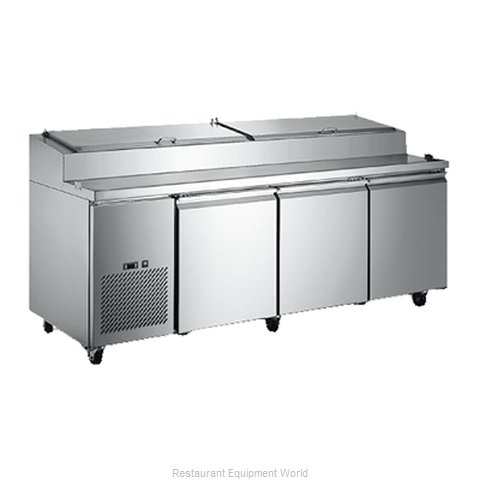 Food Machinery of America PICL-3 Refrigerated Counter, Pizza Prep Table