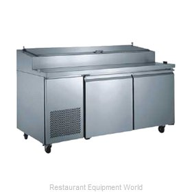Food Machinery of America PICL2 Refrigerated Counter, Pizza Prep Table